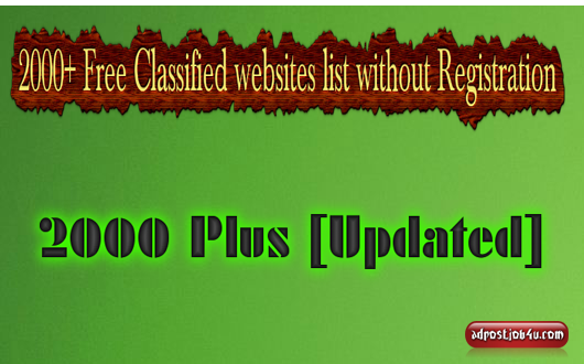 free classified websites list without registration