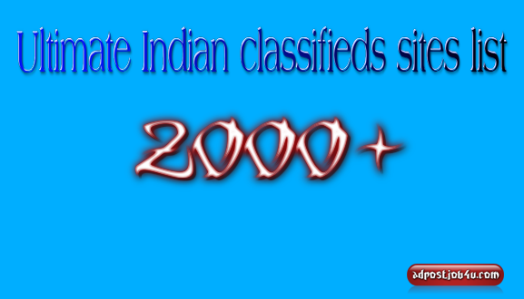 Ultimate Indian classifieds sites list