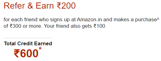 Earn Rs-600 from posting amazon ads online - Refer and earn