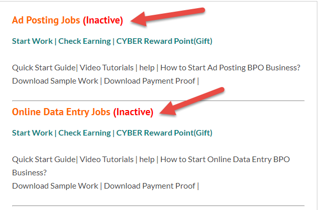 CYBER EXPO Free Online Jobs inactive